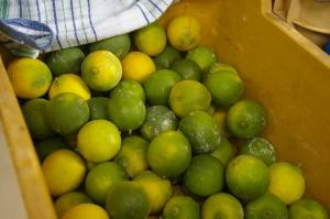 limes at a farmer's market
