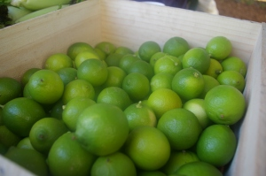 limes at the markets